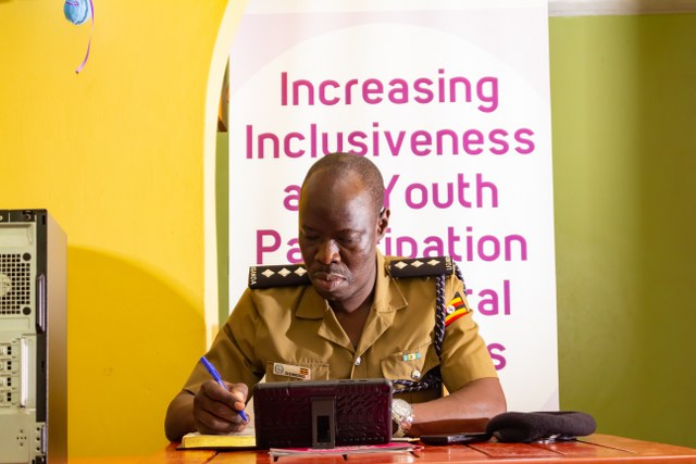 ASP Francis Ogweng on duty in the Observertory Centre